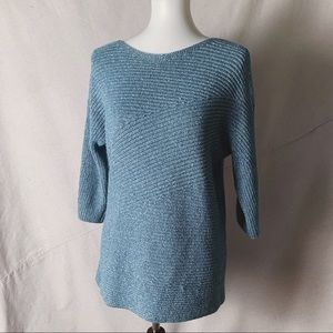 CHICO'S Metallic Boatneck Sweater Size 2 (L)
